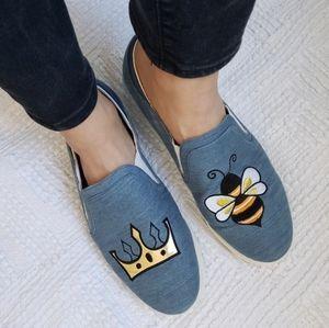 Sam Edelman Circus Queen Bee Denim Sneakers 10 M